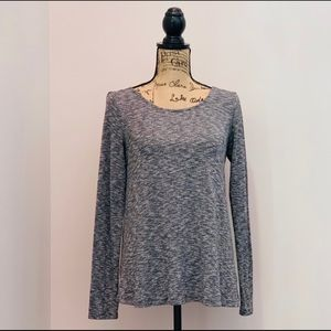 American Eagle Black Heather Slouchy Back Top SM